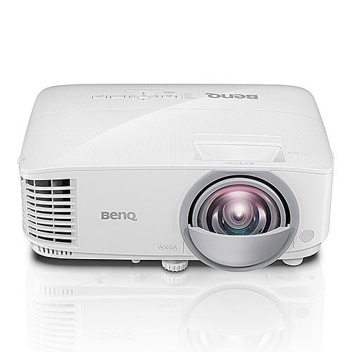 【送料無料】BenQ DLP短焦点プロジェクター MW826ST WXGA(1280×800) 3400lm 20000:1 2.6kg HDMI×2系統 D-Sub15ピン スピーカー10W VGAケーブル付属 100インチの投影距離約1.05m【在庫目安:僅少】