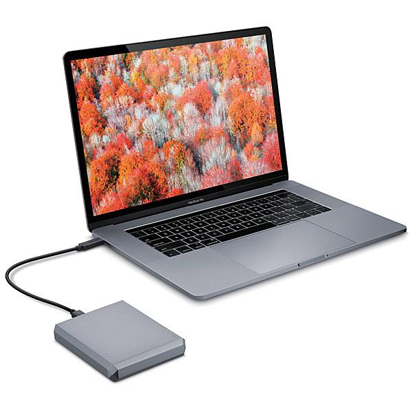 【送料無料】 STHG5000402 LaCie Mobile Drive 5TB USB-C Space Gray【在庫目安:お取り寄せ】| パソコン周辺機器 ポータブル 外付けハードディスクドライブ 外付けハードディスク 外付けHDD ハードディスク 外付け 外付 HDD USB
