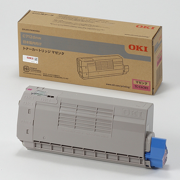 【送料無料】OKIデータ TC-C4CM1 トナーカートリッジ マゼンタ (C712dnw)【在庫目安:お取り寄せ】| トナー カートリッジ トナーカットリッジ トナー交換 印刷 プリント プリンター