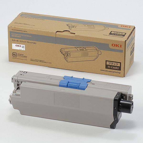 【在庫目安:あり】【送料無料】OKIデータ TC-C4AK2 トナーカートリッジ(大) ブラック (MC363dnw/ C332dnw)| トナー カートリッジ トナーカットリッジ トナー交換 印刷 プリント プリンター