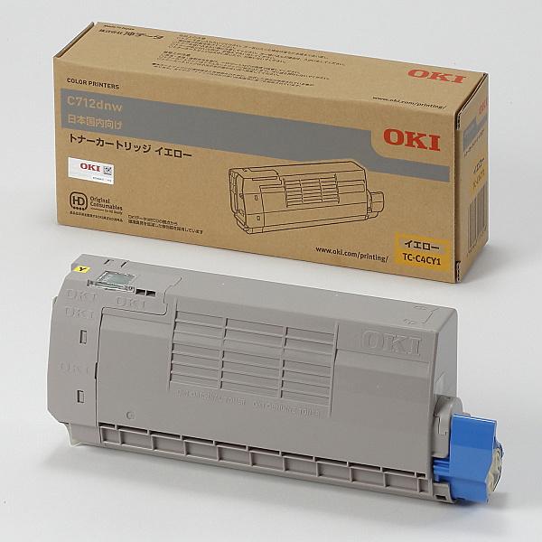 【送料無料】OKIデータ TC-C4CY1 トナーカートリッジ イエロー (C712dnw)【在庫目安:お取り寄せ】| トナー カートリッジ トナーカットリッジ トナー交換 印刷 プリント プリンター