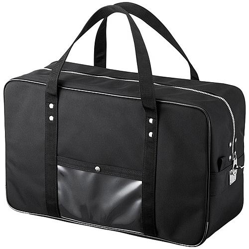 【送料無料】サンワサプライ BAG-MAIL2BK メールボストンバッグ(Lサイズ・ブラック)【在庫目安:お取り寄せ】| サプライ バッグ キャリングバッグ インナーバッグ バックパック リュックサック ケース 落ち運び