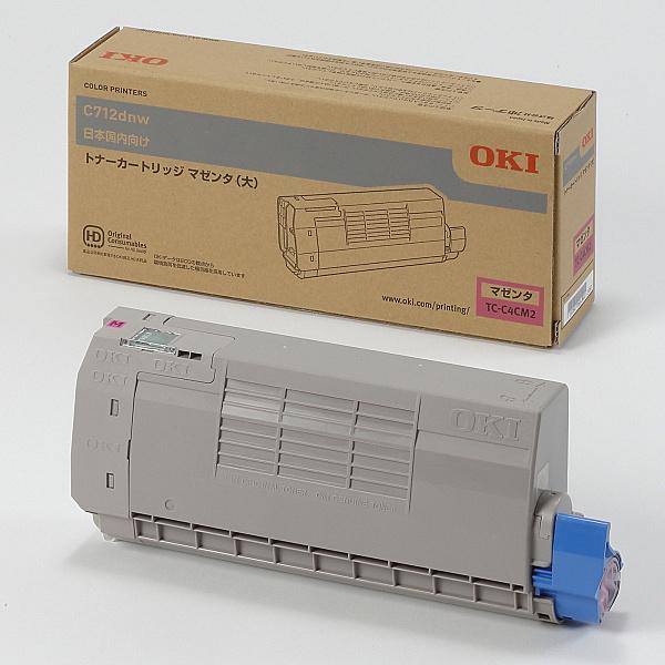 【送料無料】OKIデータ TC-C4CM2 トナーカートリッジ(大) マゼンタ (C712dnw)【在庫目安:お取り寄せ】| トナー カートリッジ トナーカットリッジ トナー交換 印刷 プリント プリンター