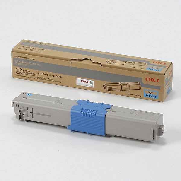 【在庫目安:あり】【送料無料】OKIデータ TC-C4AC1 トナーカートリッジ シアン (MC363dnw/ C332dnw)| トナー カートリッジ トナーカットリッジ トナー交換 印刷 プリント プリンター