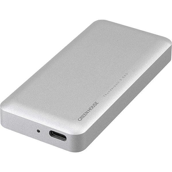 【送料無料】GREEN HOUSE GH-SSDTB3A480 Thunderbolt3 外付SSD 480GB【在庫目安:お取り寄せ】| パソコン周辺機器 外付けSSD 外付SSD 外付け 外付 SSD 耐久 省電力 フラッシュディスク フラッシュ