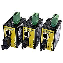 【送料無料】ハイテクインター 161-KI-001 産業用小型光メディアコンバータ KFC-241-L-T (MM、ST2芯、2km)【在庫目安:お取り寄せ】