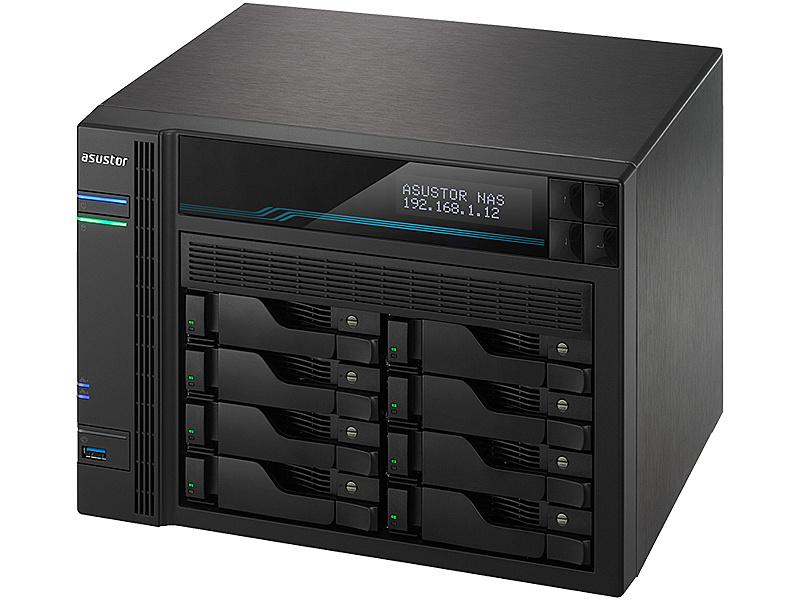 【送料無料】ASUSTOR AS6508T LOCKERSTOR 8 8ベイNAS Intel ATOM C3538 2.1GHz Quad-Core 8GB RAM 10GBASE-T x2 2.5GBASE-T x2 USB3.2 Gen1 x2 M.2 NVMe/ SATA slot x2 3年保証【在庫目安:お取り寄せ】| NAS RAID レイド