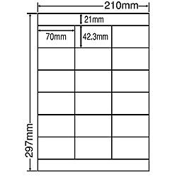 【送料無料】東洋印刷 LDZ18PFH シートカットラベル A4版 18面付(1ケース500シート)【在庫目安:お取り寄せ】| ラベル シール シート シール印刷 プリンタ 自作