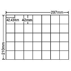 【送料無料】東洋印刷 C35QF シートカットラベル A4版 35面付(1ケース500シート)【在庫目安:お取り寄せ】| ラベル シール シート シール印刷 プリンタ 自作