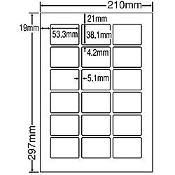 【送料無料】東洋印刷 LDW18PCF シートカットラベル A4版 18面付(1ケース500シート)【在庫目安:お取り寄せ】  ラベル シール シート シール印刷 プリンタ 自作