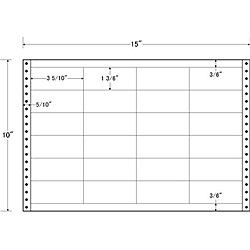 【送料無料】東洋印刷 LB15F タックフォームラベル 15インチ×10インチ 24面付(1ケース500折)【在庫目安:お取り寄せ】| ラベル シール シート シール印刷 プリンタ 自作
