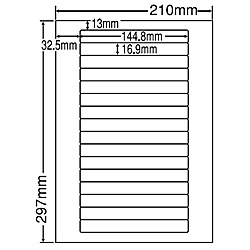 【送料無料】東洋印刷 LDW16TF シートカットラベル A4版 16面付(1ケース500シート)【在庫目安:お取り寄せ】| ラベル シール シート シール印刷 プリンタ 自作