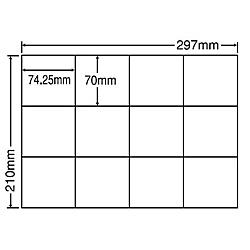 【送料無料】東洋印刷 C12SF シートカットラベル A4版 12面付(1ケース500シート)【在庫目安:お取り寄せ】| ラベル シール シート シール印刷 プリンタ 自作