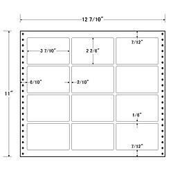 【送料無料】東洋印刷 L12B タックフォームラベル 12 7/ 10インチ×11インチ 12面付(1ケース500折)【在庫目安:お取り寄せ】| ラベル シール シート シール印刷 プリンタ 自作