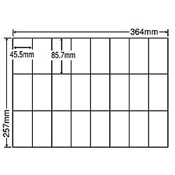 【送料無料】東洋印刷 E24UF シートカットラベル B4版 24面付(1ケース500シート)【在庫目安:お取り寄せ】| ラベル シール シート シール印刷 プリンタ 自作