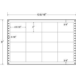 【送料無料】東洋印刷 LB13B タックフォームラベル 13 8/ 10インチ×9インチ 16面付(1ケース500折)【在庫目安:お取り寄せ】| ラベル シール シート シール印刷 プリンタ 自作