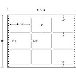【送料無料】東洋印刷 LB14G タックフォームラベル 14 4/ 10インチ×11インチ 9面付(1ケース500折)【在庫目安:お取り寄せ】| ラベル シール シート シール印刷 プリンタ 自作