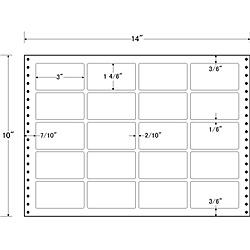 【送料無料】東洋印刷 L14S タックフォームラベル 14インチ×10インチ 20面付(1ケース500折)【在庫目安:お取り寄せ】| ラベル シール シート シール印刷 プリンタ 自作