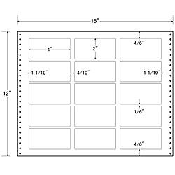【送料無料】東洋印刷 LB15L タックフォームラベル 15インチ×12インチ 15面付(1ケース500折)【在庫目安:お取り寄せ】| ラベル シール シート シール印刷 プリンタ 自作