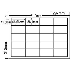 【送料無料】東洋印刷 CD20SF シートカットラベル A4版 20面付(1ケース500シート)【在庫目安:お取り寄せ】| ラベル シール シート シール印刷 プリンタ 自作