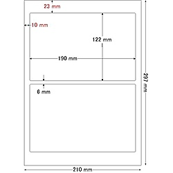 【送料無料】東洋印刷 LDW2IF シートカットラベル A4版 2面付(1ケース500シート)【在庫目安:お取り寄せ】  ラベル シール シート シール印刷 プリンタ 自作