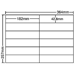 【送料無料】東洋印刷 E12IF シートカットラベル B4版 12面付(1ケース500シート)【在庫目安:お取り寄せ】| ラベル シール シート シール印刷 プリンタ 自作