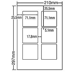 【送料無料】東洋印刷 LDW6GF シートカットラベル A4版 6面付(1ケース500シート)【在庫目安:お取り寄せ】| ラベル シール シート シール印刷 プリンタ 自作