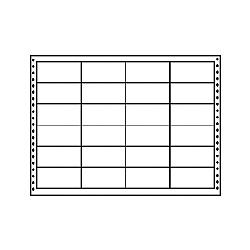 【送料無料】東洋印刷 LB15J タックフォームラベル 15インチ×11インチ 24面付(1ケース500折)【在庫目安:お取り寄せ】| ラベル シール シート シール印刷 プリンタ 自作