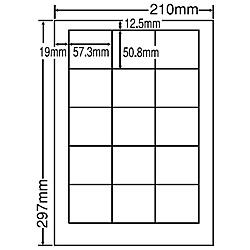 【送料無料】東洋印刷 LDW15MF シートカットラベル A4版 15面付(1ケース500シート)【在庫目安:お取り寄せ】  ラベル シール シート シール印刷 プリンタ 自作