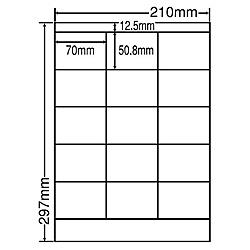 【送料無料】東洋印刷 LDZ15MF シートカットラベル A4版 15面付(1ケース500シート)【在庫目安:お取り寄せ】| ラベル シール シート シール印刷 プリンタ 自作