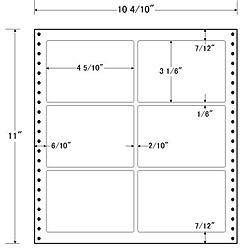 【送料無料】東洋印刷 L10A タックフォームラベル 10 4/ 10インチ×11インチ 6面付(1ケース500折)【在庫目安:お取り寄せ】  ラベル シール シート シール印刷 プリンタ 自作