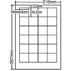 【送料無料】東洋印刷 LDW24PF シートカットラベル A4版 24面付(1ケース500シート)【在庫目安:お取り寄せ】| ラベル シール シート シール印刷 プリンタ 自作