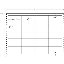 【送料無料】東洋印刷 LB15K タックフォームラベル 15インチ×11インチ 20面付(1ケース500折)【在庫目安:お取り寄せ】| ラベル シール シート シール印刷 プリンタ 自作