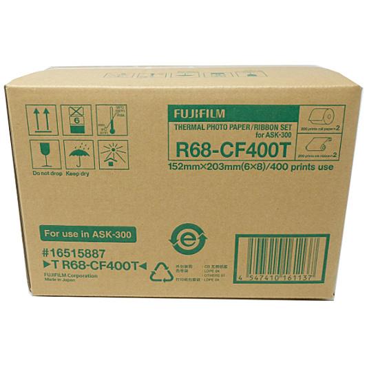 【送料無料】富士フイルム T R68-CF400T サーマルフォトプリントセット(6×8サイズ用:400枚分)【在庫目安:お取り寄せ】