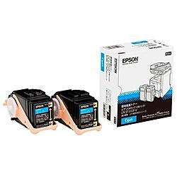【在庫目安:あり】【送料無料】EPSON LPC3T31CPV ページプリンター用 環境推進トナー/ シアン/ Mサイズ2本パック(6500ページ×2)  トナー カートリッジ トナーカットリッジ トナー交換 印刷 プリント プリンター