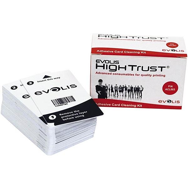 【送料無料】EVOLIS ACL003 クリーニング粘着カード (バラ・50枚入)【在庫目安:お取り寄せ】