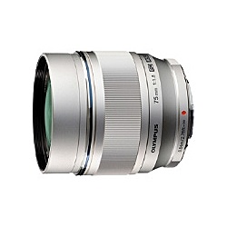 OLYMPUS ET-M7518SLV マイクロフォーサーズ用 M.ZUIKO DIGITAL 75mm F1.8 (シルバー)【在庫目安:お取り寄せ】| カメラ 単焦点レンズ 交換レンズ レンズ 単焦点 交換 マウント ボケ