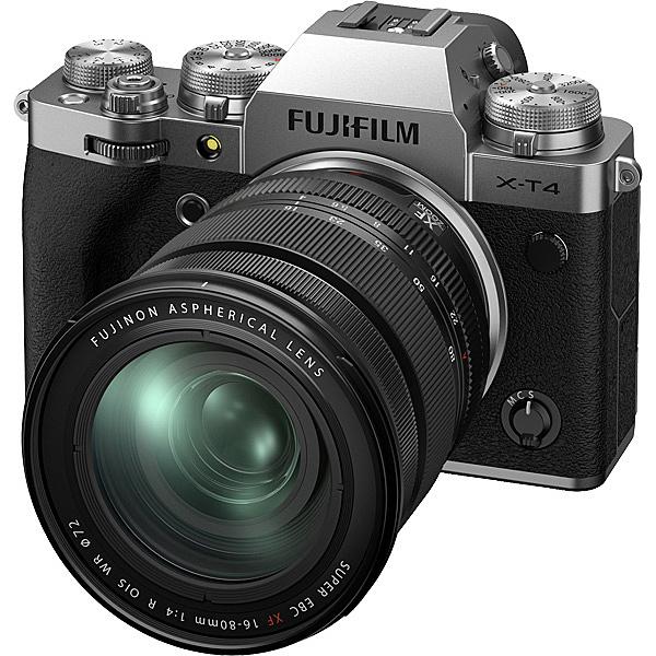 【送料無料】富士フイルム F X-T4LK-1680-S ミラーレスデジタルカメラ X-T4 レンズキット(X-T4/ XF16-80mmF4 R OIS WR) シルバー【在庫目安:予約受付中】| カメラ ミラーレスデジタル一眼レフカメラ 一眼レフ カメラ デジタル一眼カメラ