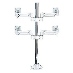 【送料無料】Live Creator ARM2-27-42L2 液晶モニタ・TV用VESA対応天板ネジ固定式マルチポールアーム(4画面)【在庫目安:お取り寄せ】| オフィス オフィス家具