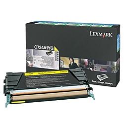 【送料無料】レックスマークレーザープリンタ C734A1YG リターンプログラムトナーカートリッジ・イエロー(6000枚)【在庫目安:お取り寄せ】| 消耗品 リサイクルトナー リサイクル カートリッジ 交換 レーザープリンタ レーザー プリンタ A4 新品