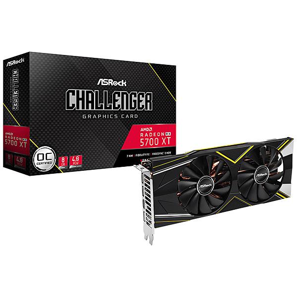 【送料無料】ASRock RX5700XT Challenger D8G OC AMD Radeon RX5700XT搭載 グラフィックボード GDDR6 8GB オリジナルファンモデル【在庫目安:お取り寄せ】| パソコン周辺機器 グラフィックボード