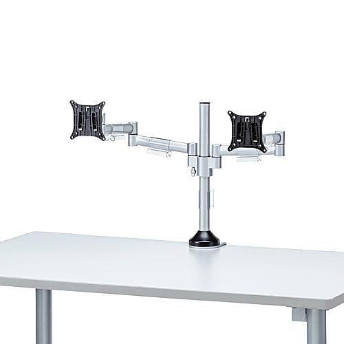 【送料無料】サンワサプライ CR-LA1802 水平多関節液晶モニタアーム(H420 左右2面)【在庫目安:お取り寄せ】| オフィス オフィス家具