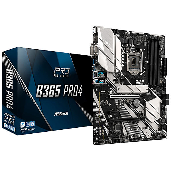 【送料無料】ASRock B365 Pro4 Intel 第8世代&第9世代CPU(Soket 1151)対応 B365チップセット搭載 ATXマザーボード【在庫目安:お取り寄せ】| パソコン周辺機器 マザーボード マザボ