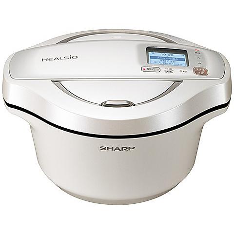 【送料無料】SHARP KN-HW24E-W 水なし自動調理鍋 ヘルシオホットクック 無線LAN対応 2.4L ホワイト系【在庫目安:お取り寄せ】