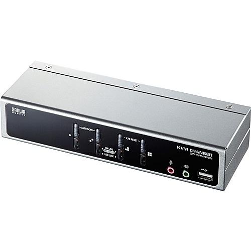 【送料無料】サンワサプライ SW-KVM4HVCN USB・PS/2コンソール両対応パソコン自動切替器(4:1)【在庫目安:お取り寄せ】
