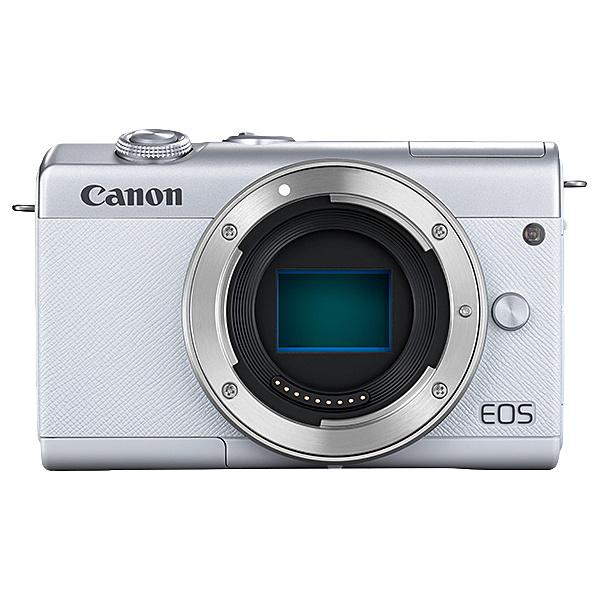 【送料無料】Canon 3700C001 ミラーレスカメラ EOS M200・ボディー (ホワイト)【在庫目安:お取り寄せ】| カメラ ミラーレスデジタル一眼レフカメラ 一眼レフ カメラ デジタル一眼カメラ