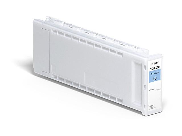 【送料無料】EPSON SC18LC70 SureColor用 インクカートリッジ/ 700ml(ライトシアン)【在庫目安:予約受付中】  インク インクカートリッジ インクタンク 純正 純正インク