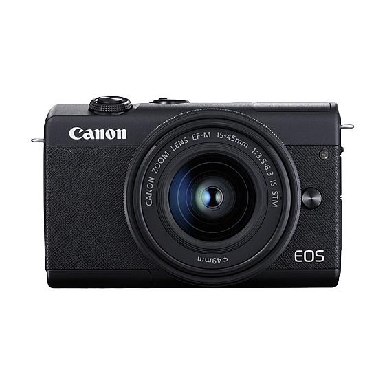 【送料無料】Canon 3699C008 ミラーレスカメラ EOS M200・EF-M15-45 IS STM レンズキット (ブラック)【在庫目安:僅少】| カメラ ミラーレスデジタル一眼レフカメラ 一眼レフ カメラ デジタル一眼カメラ