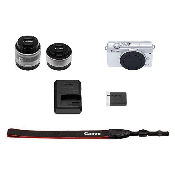 【送料無料】Canon 3700C019 ミラーレスカメラ EOS M200・ダブルレンズキット (ホワイト)【在庫目安:お取り寄せ】| カメラ ミラーレスデジタル一眼レフカメラ 一眼レフ カメラ デジタル一眼カメラ