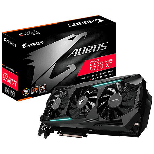 【送料無料】GIGABYTE GV-R57XTAORUS-8GD AMD Radeon RX 5700XT グラフィックボード GDDR6 8GB WINDFORCE 3X 6画面出力対応トリプルファンモデル【在庫目安:お取り寄せ】| パソコン周辺機器 グラフィックボード